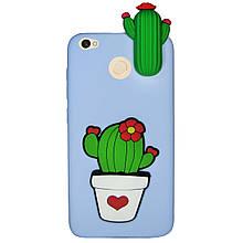 Чехол 3D Cartoon Case для Xiaomi Redmi Note 5A Prime Кактусы (hub_nmBJ97258)