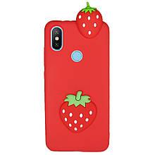 Чехол 3D Cartoon Case для Xiaomi Mi 8 SE Клубничка (hub_FEVh90664)
