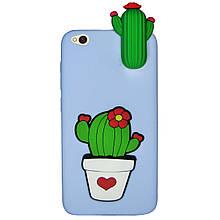 Чехол 3D Cartoon Case для Xiaomi Redmi Go Кактусы (hub_mIyK15623)
