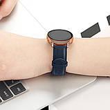 Ремінець BeWatch шкіряний 20мм для Samsung Active| Active 2 | Galaxy watch 42mm Синій L (1210189.L), фото 4