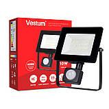 Світлодіодний прожектор с датчиком руху Vestum 10W 1 000Лм 6500K 175-250V IP65 1-VS-3009, фото 3