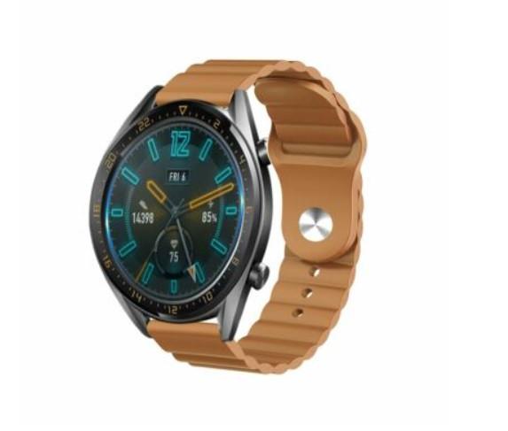 Ремешок силиконовый BeWatch 22мм для Samsung Gear S3 | Galaxy Watch 46 | Galaxy Watch 3 45 mm LineS Коричневый
