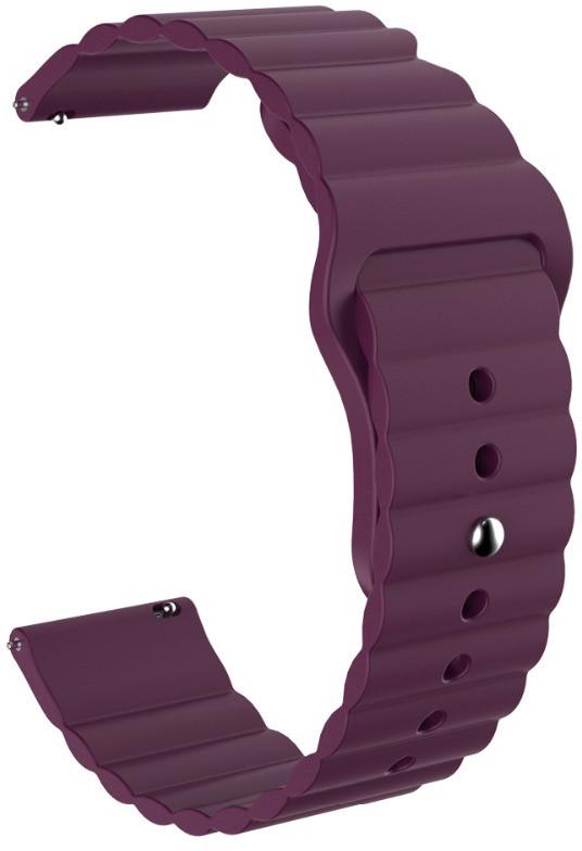 Ремешок силиконовый 22мм для Xiaomi Amazfit Pace   Stratos   GTR 47mm LineS BeWatch Фиолетовый