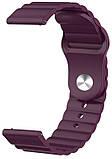 Ремешок силиконовый 22мм для Xiaomi Amazfit Pace   Stratos   GTR 47mm LineS BeWatch Фиолетовый, фото 2