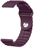 Силіконовий ремінець 22мм універсальний для смарт-годин LineS BeWatch Фіолетовий, фото 2
