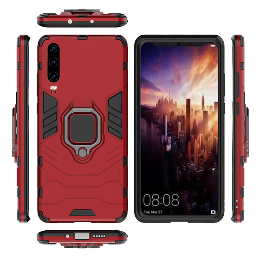 Чехол Ring Armor для Huawei P30 Красный (hub_wjNb73531)