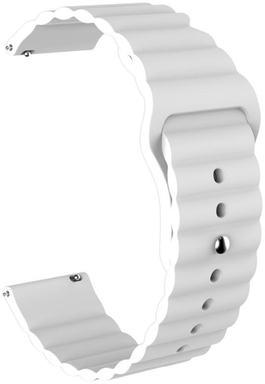 Ремешок силиконовый 22мм универсальный для смарт-часов LineS BeWatch Белый