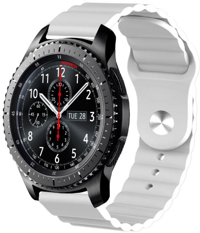 Ремешок силиконовый 22мм для Samsung Gear S3 | Galaxy Watch 46 | Galaxy Watch 3 45 mm LineS BeWatch Белый