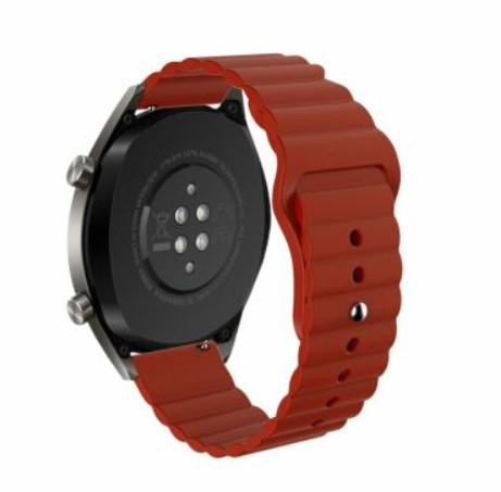 Силіконовий ремінець BeWatch 22мм універсальний для смарт-годин LineS Темно-Червоний