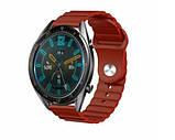 Ремешок силиконовый BeWatch 22мм универсальный для смарт-часов LineS Темно-Красный, фото 3