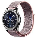 Ремінець BeWatch 20мм нейлоновий липучка універсальний для смарт годин Рожевий (1011338), фото 2