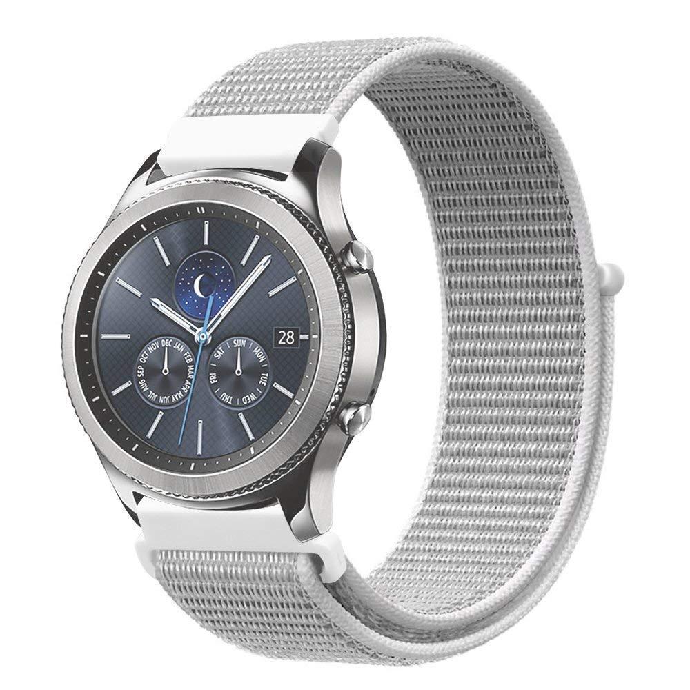 Ремешок BeWatch для Samsung Galaxy Watch 42  Galaxy Watch 3 41  Active  Active2 нейлоновый 20мм липучка Белый