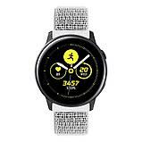 Ремешок BeWatch для Samsung Galaxy Watch 42  Galaxy Watch 3 41  Active  Active2 нейлоновый 20мм липучка Белый, фото 2