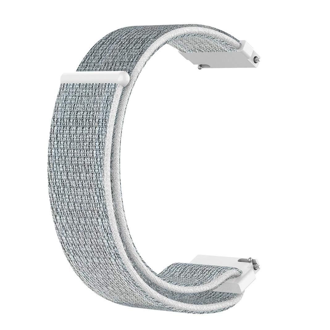 Ремешок BeWatch 20мм нейлоновый липучка универсальный для смарт часов Белый (1011311)