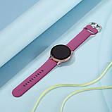 Ремешок BeWatch для Samsung Galaxy Active | Active 2 силиконовый 20мм Винный (1012510), фото 4