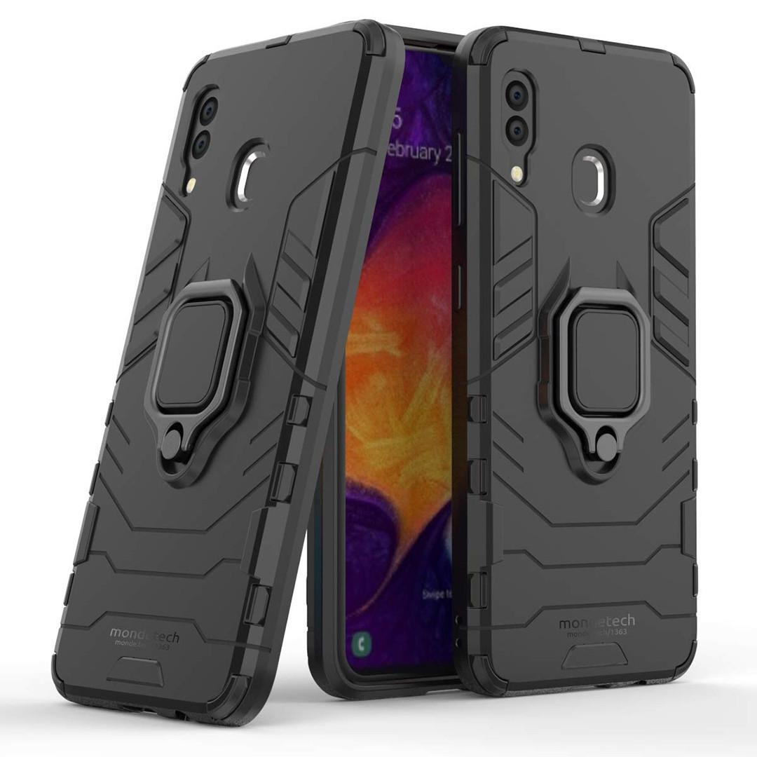 Чохол Ring Armor для Samsung Galaxy A20 / Galaxy A30 Чорний (hub_kjkv51520)