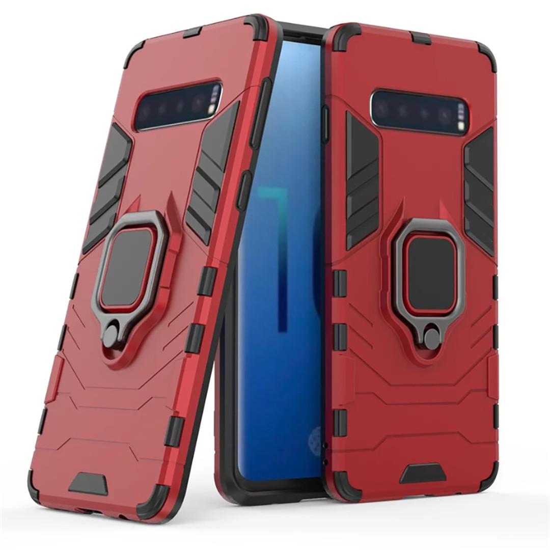 Чехол Ring Armor для Samsung G975 Galaxy S10 Plus Красный (hub_xRIR57697)