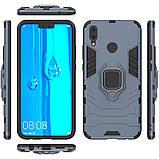 Чохол Ring Armor для Huawei Y9 2019 / Enjoy 9 Plus Синій (hub_cqyz06141), фото 5