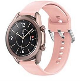 Ремешок BeWatch для Samsung Galaxy Watch 42мм   Galaxy Watch 3 41mm силиконовый 20мм Персиковый (1012522)