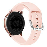 Ремешок BeWatch для Samsung Galaxy Watch 42мм   Galaxy Watch 3 41mm силиконовый 20мм Персиковый (1012522), фото 4