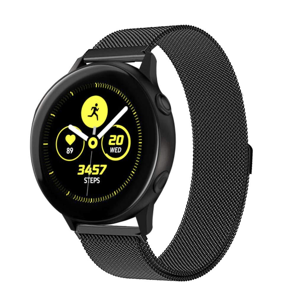Ремінець BeWatch для Samsung Galaxy Watch 3 41mm | Active | Active 2 міланська петля 20мм Браслет Чорний