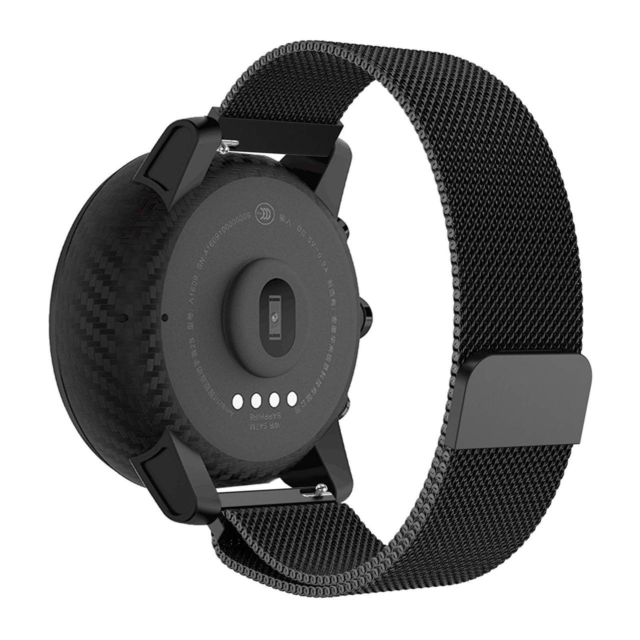 Ремінець BeWatch для Samsung Galaxy Watch 3 45mm міланська петля 22мм стальний Браслет Чорний (1020201)