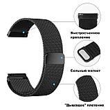 Ремінець BeWatch для Samsung Galaxy Watch 3 45mm міланська петля 22мм стальний Браслет Чорний (1020201), фото 4