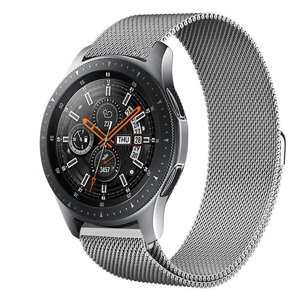 Ремінець BeWatch для Samsung Galaxy Watch 42 | Galaxy Watch 3 41mm міланська петля 20мм Браслет Срібний