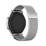 Ремінець BeWatch для Samsung Galaxy Watch 42 | Galaxy Watch 3 41mm міланська петля 20мм Браслет Срібний, фото 3