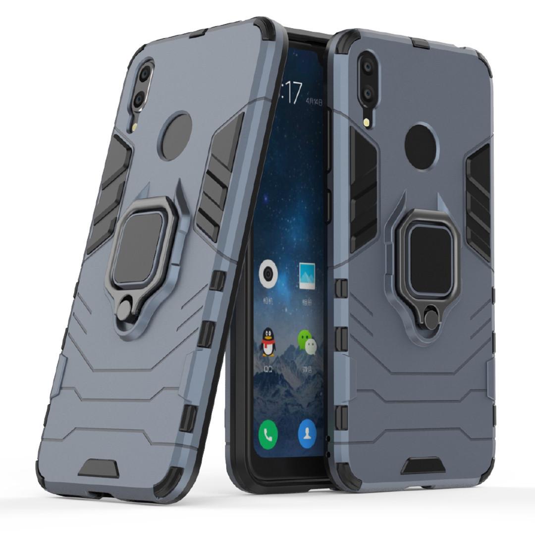 Чехол Ring Armor для Huawei Y7 2019 / Y7 Prime 2019 Синий (hub_FCtD27680)