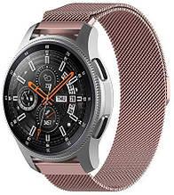 Ремешок BeWatch миланская петля шириной 20 мм для Samsung Galaxy Watch 42 мм Rose Gold (1010211)