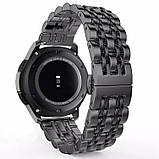 Ремінець BeWatch classic сталевий Link Xtra для Samsung Gear S3 Black (1021401), фото 2