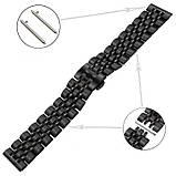 Ремінець BeWatch classic сталевий Link Xtra для Samsung Gear S3 Black (1021401), фото 4