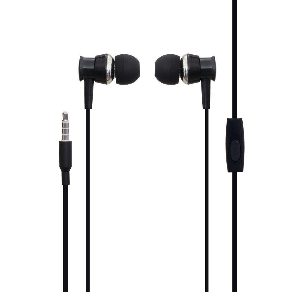 Вакуумні навушники XO S25 гарнітура для телефону Чорний