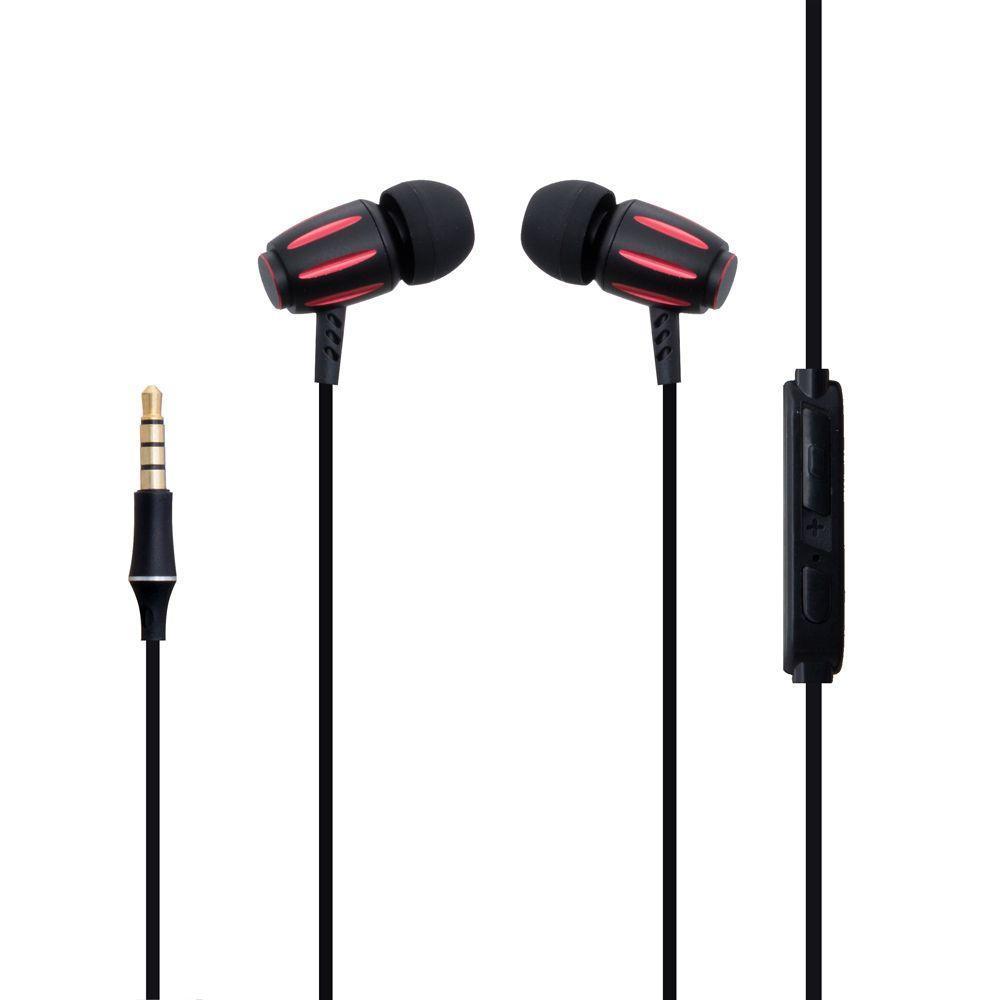 Вакуумные наушники XO S29 гарнитура для телефона Черно-Красный