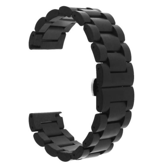 Браслет з дерева 22 мм BeWatch Wood ремінець для Samsung Galaxy Watch 46mm | Samsung Gear S3 Чорний (1020901)