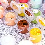 Картина на холсте по номерам Lesko Париж E-190 Цветочный магазин (4758-14635), фото 4