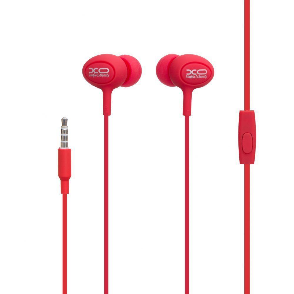 Вакуумні навушники XO S6 гарнітура для телефону Червоний