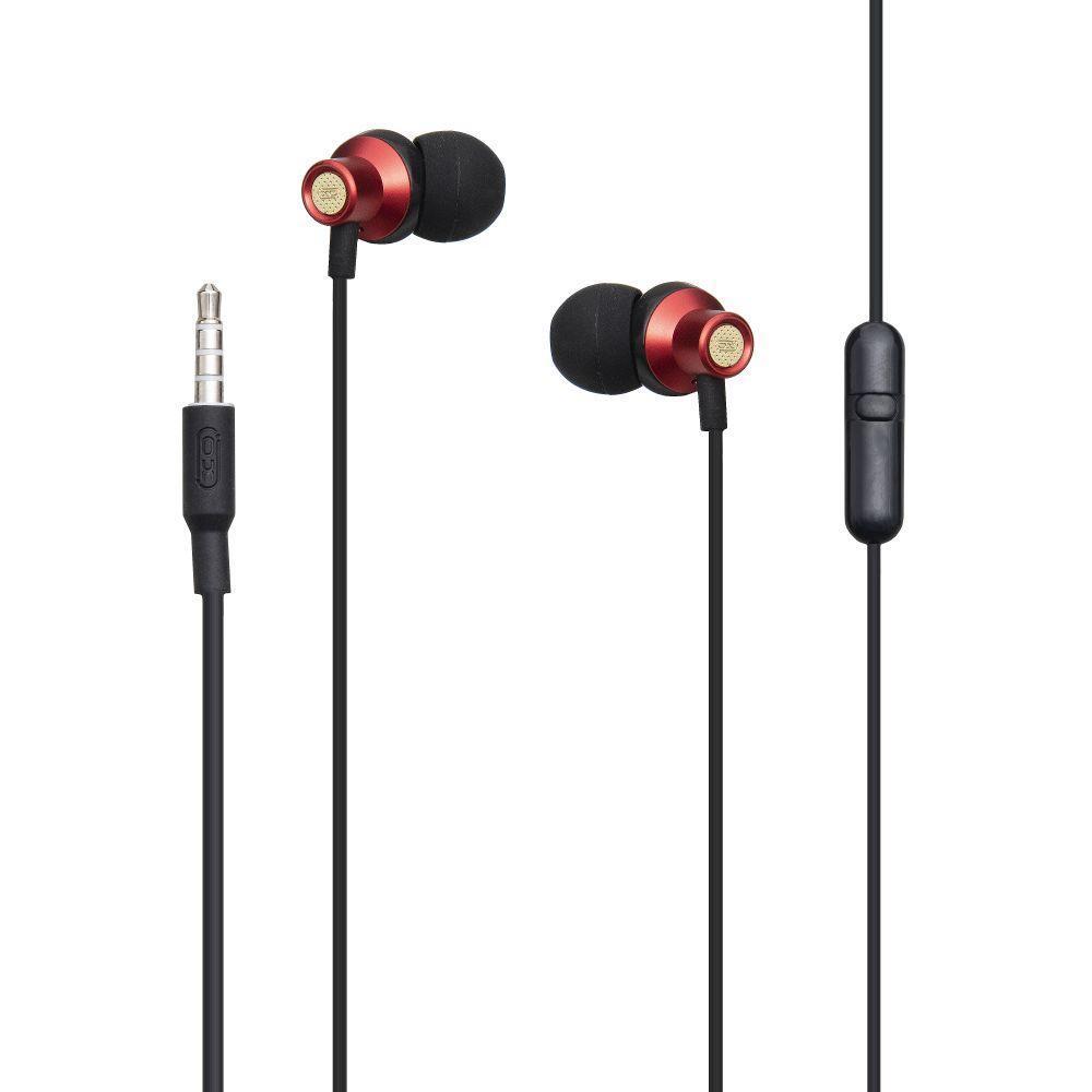 Вакуумні навушники XO EP15 гарнітура для телефону Червоний