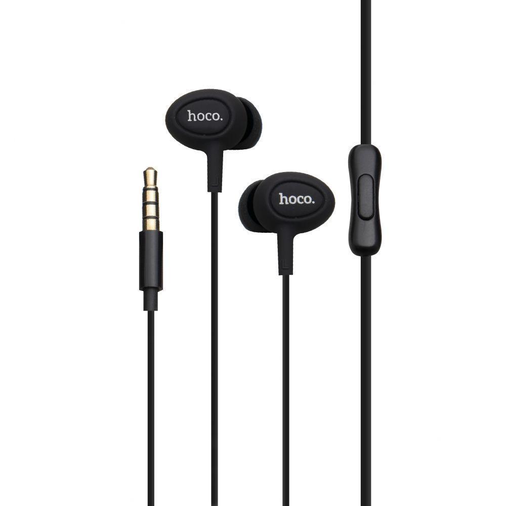 Вакуумні навушники Hoco M3 гарнітура для телефону Чорний