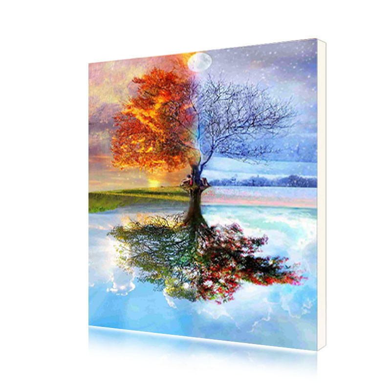 "Картина по номерам Lesko Y-5282 ""Дерево жизни"" 40-50см (4771-14664)"