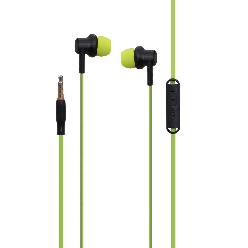 Вакуумные наушники Celebrat V2 гарнитура для телефона Зелёный