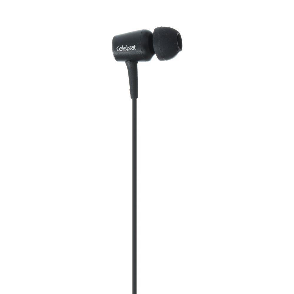 Вакуумні навушники Celebrat G1 гарнітура для телефону Чорний