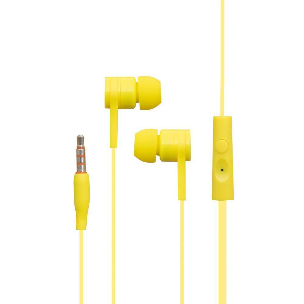 Вакуумні навушники Celebrat SKY-1 гарнітуру для телефону Жовтий