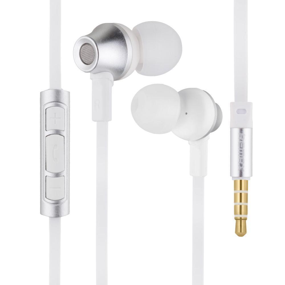Вакуумні навушники Remax RM-610D гарнітура для телефону Сірий