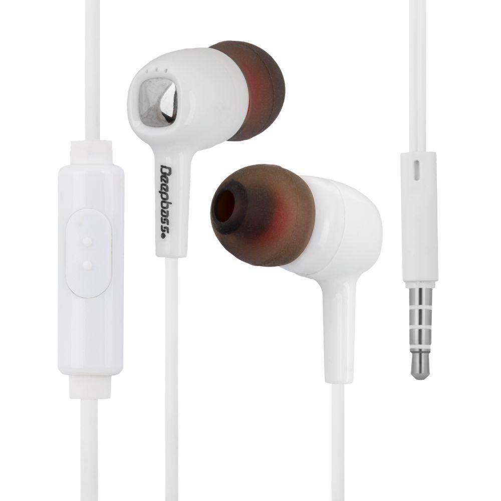 Вакуумні навушники Deepbass D-150 гарнітура для телефону Білий
