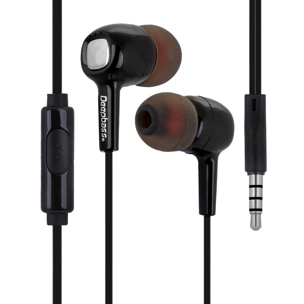 Вакуумні навушники Deepbass D-150 гарнітура для телефону Чорний