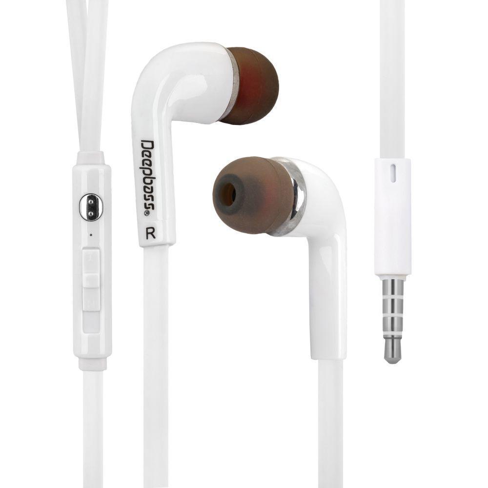 Вакуумные наушники Deepbass D-01 гарнитура для телефона Белый