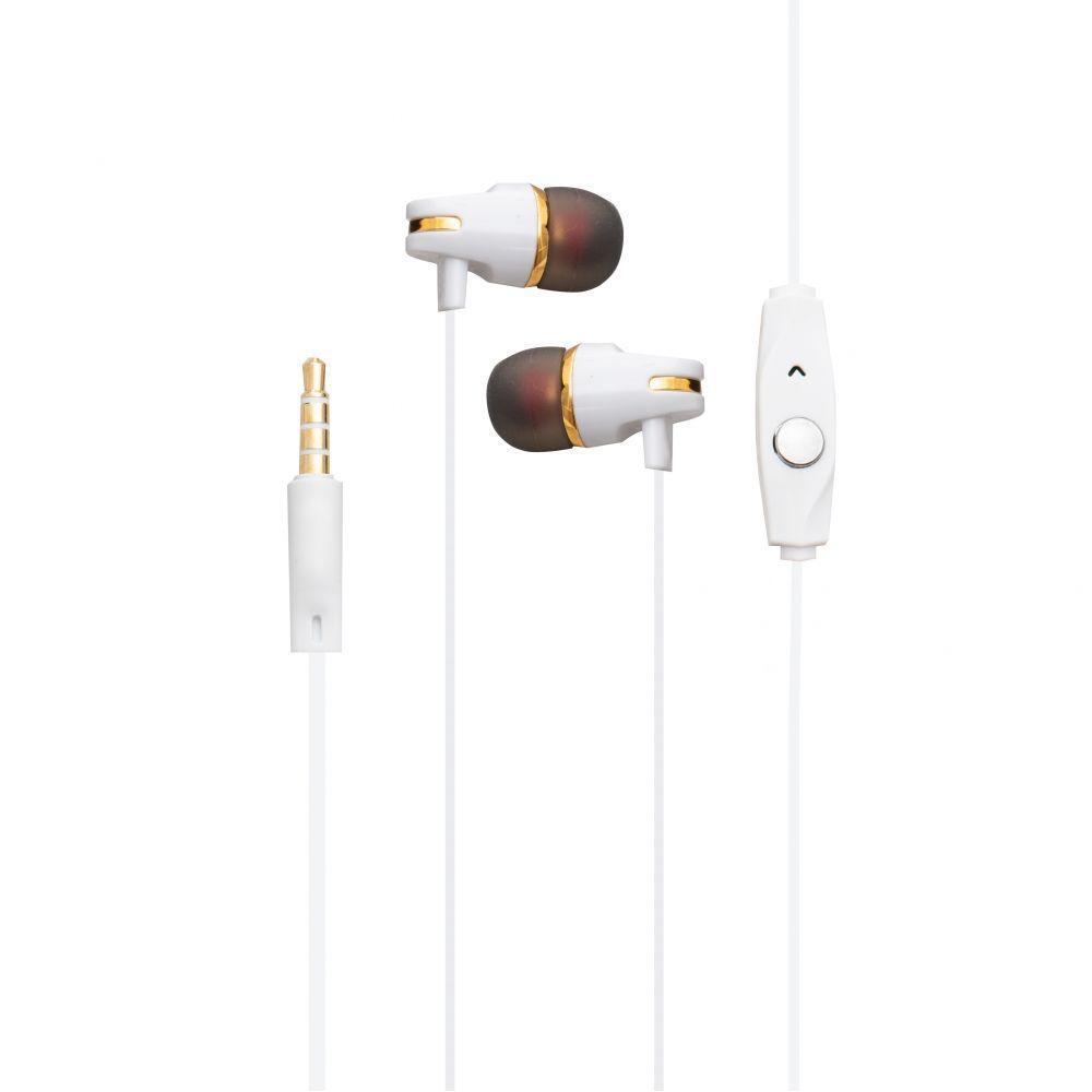 Вакуумні навушники Deepbass D-11 гарнітура для телефону Білий