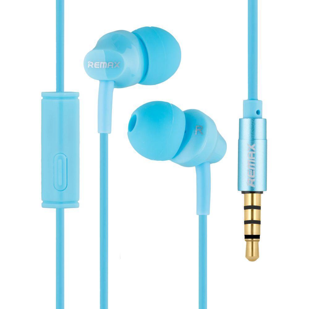Вакуумні навушники Remax RM-501 гарнітура для телефону Блакитний